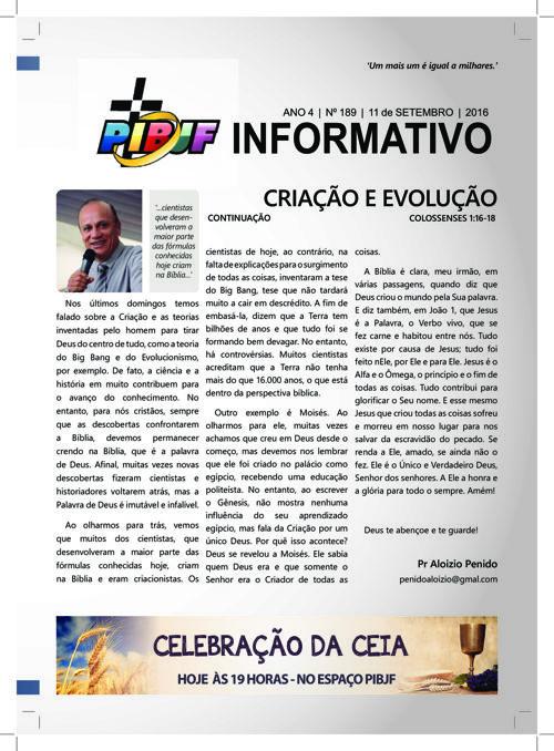 INFORMATIVO PIBJF 11.09.2016