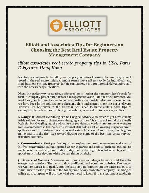 Elliott and Associates Tips for Beginners on Choosing the Best R