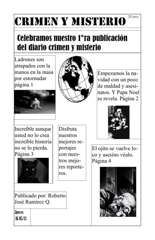Diario Crimen y Misterio de Roberto Ramírez