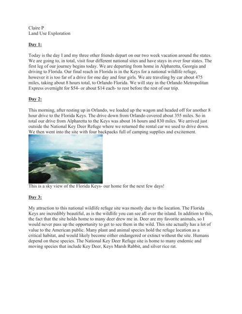 Land Use Exploration Journal