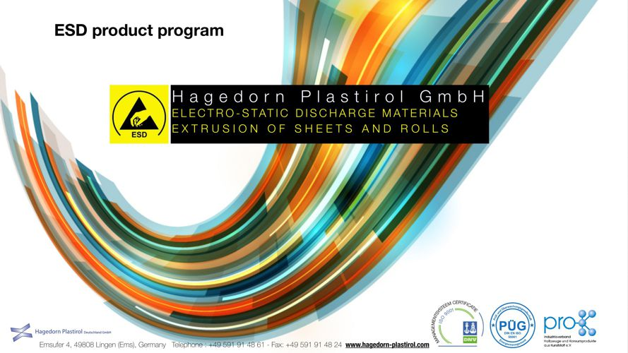 Hagedorn Plastirol ESD product program