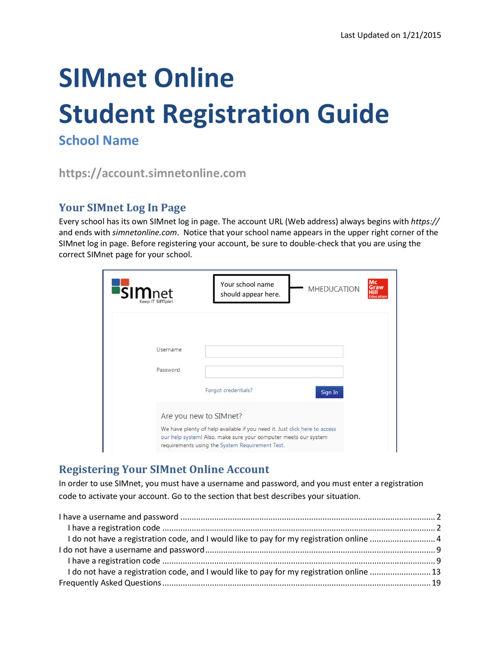 Registering Your SimNet Online Account