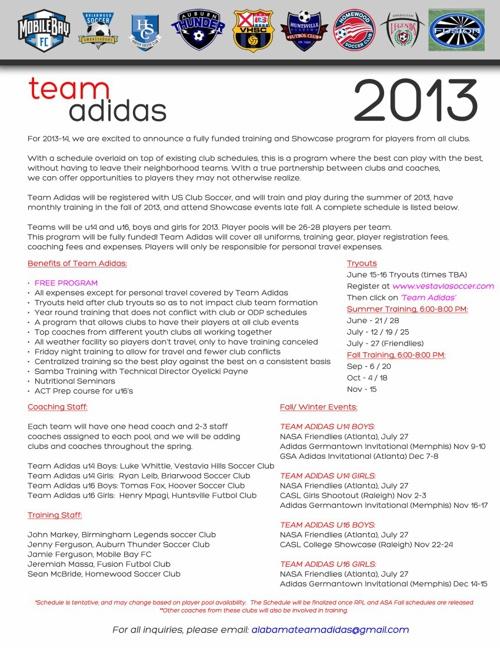 Team Adidas 2013