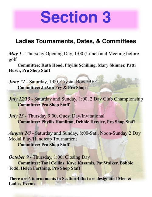 2014 Ladies Tournaments