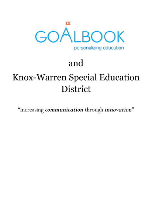 Goalbook: An Innovation for Knox-Warren Special Education Distri