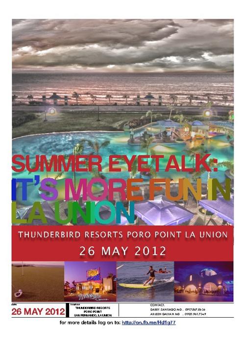 Summer Eyetalk brochure
