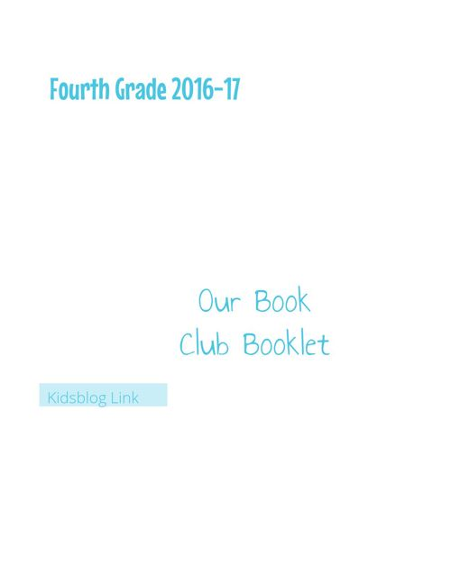 Book Clubs for 4th