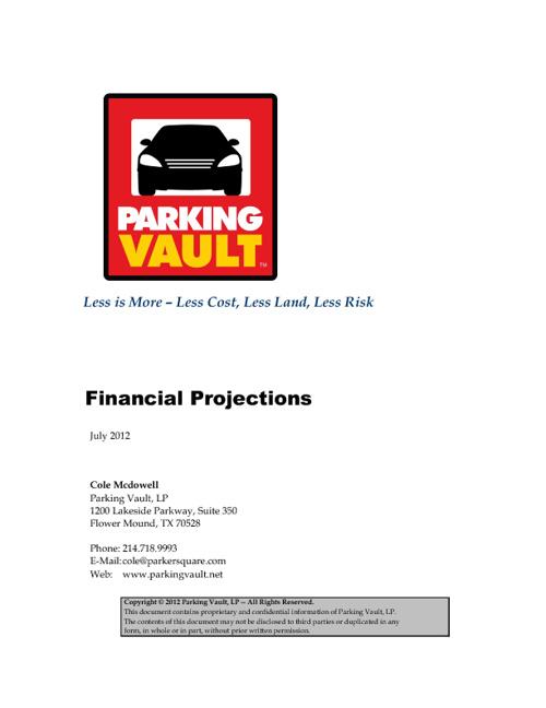 Parking Vault Financial Forecast