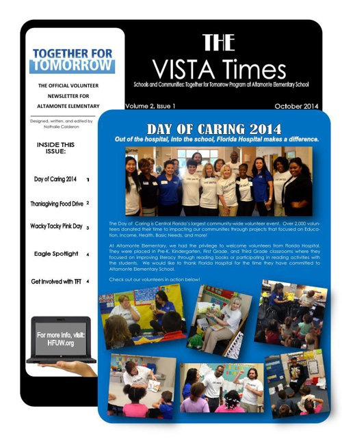 VISTA Times Volume 2- Issue 1 October Newsletter