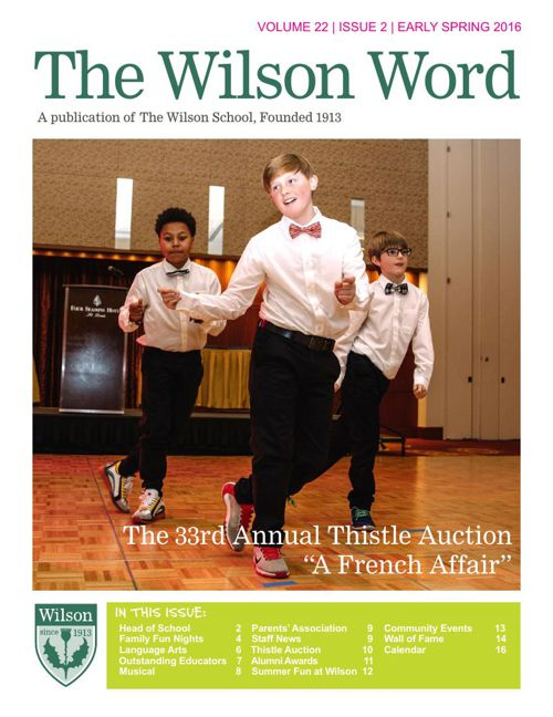 2015-16 Vol. 2 Early Spring Wilson Word