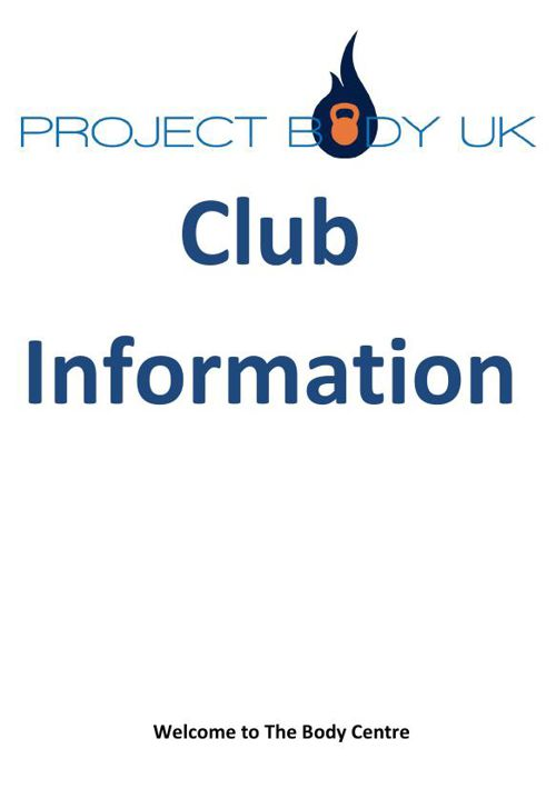 Welcome Project Body UK