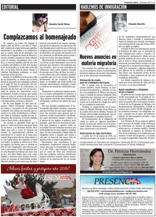 Presencia Latina Version Virtual Diciembre 2015