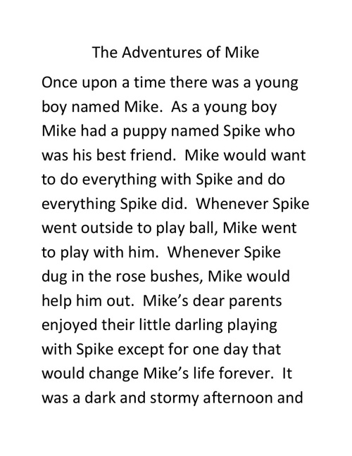The Adventures of Mike