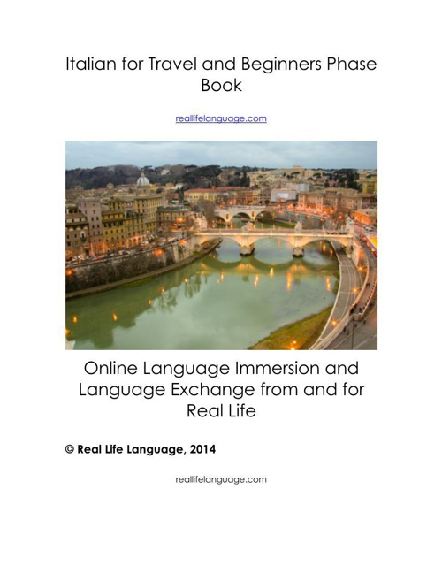 Italian for Travel and Beginners Flip Phase Book