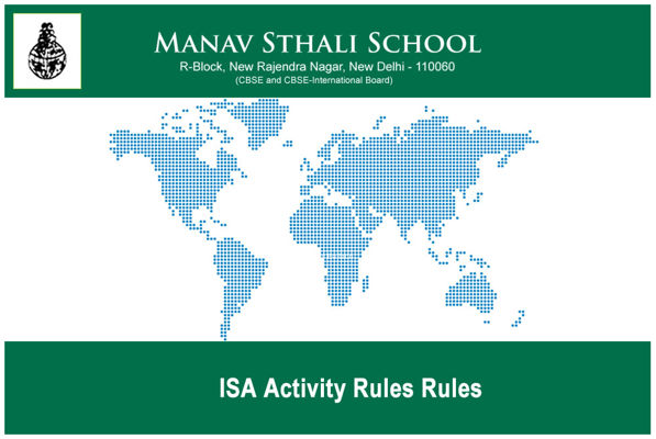 ISA Activity Rules Rules