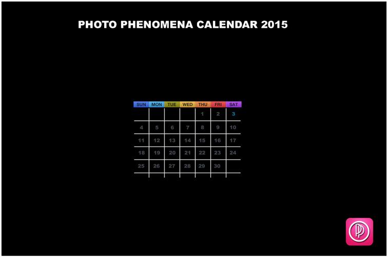 Photo Phenomena Calendar 2015