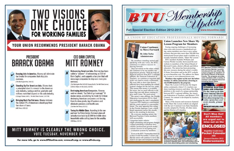 Membership Update - Fall Special Election Edition 2012-2013