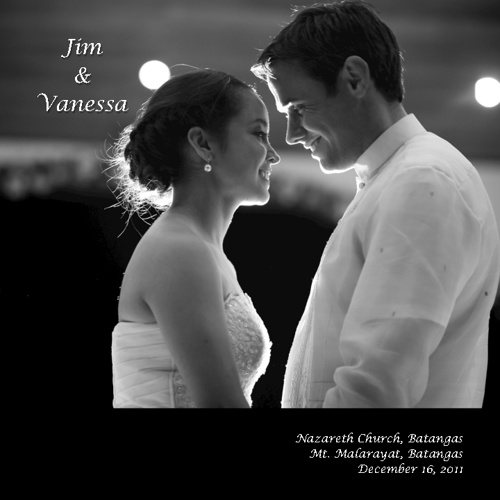 jim vanessa wedding album 10x10