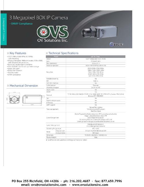 OVS Camera Catalog 2013