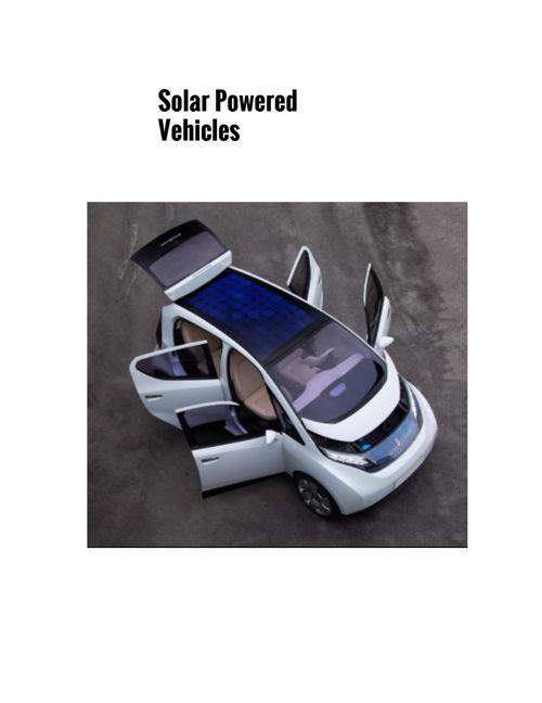 solar vehicles