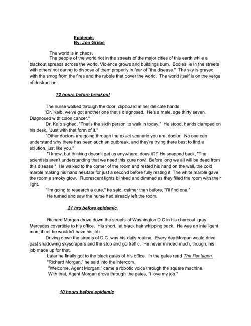 Sci Fi story: EPIDEMIC