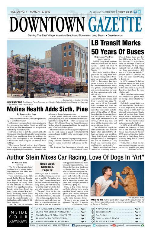 Downtown Gazette     March 15, 2013