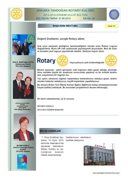 Tandoğan Rotary Bülten-04