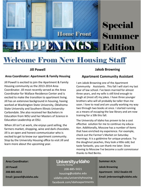 Home Front Happenings: Summer Edition
