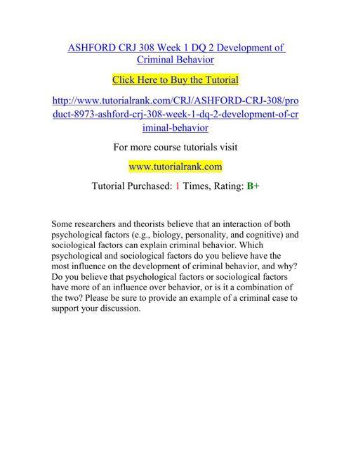 CRJ 308 Potential Instructors/tutorialrank