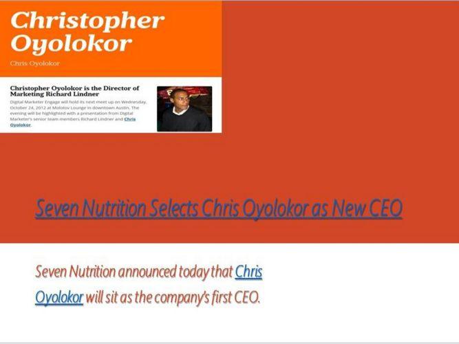 Chris Oyolokor - Christopher Oyolokor