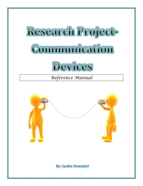 Research Project - Communication Devices
