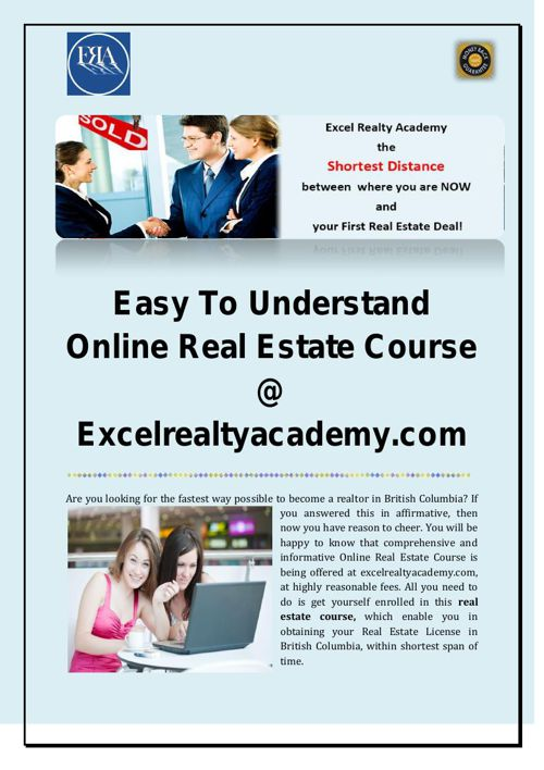 How To Become A Realtor In BC