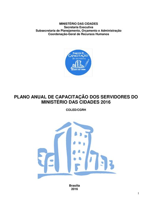 PLANO ANUAL de CAPACITAÇÃO 2016
