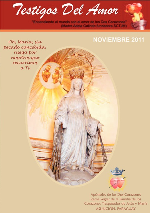 REVISTA TESTIGOS DEL AMOR - NOVIEMBRE 2011