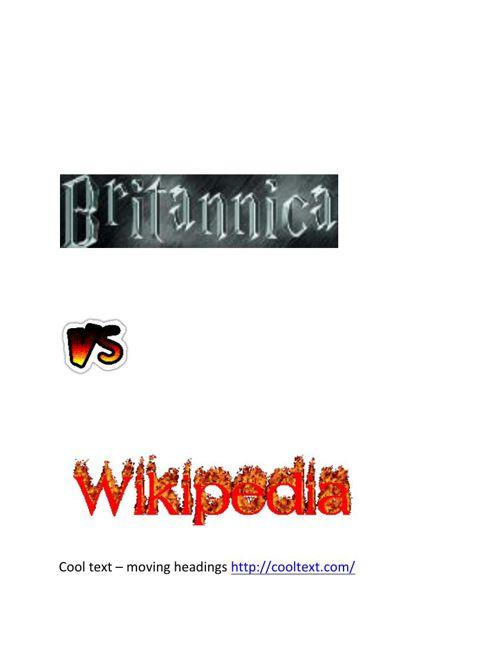 Britannica and wikipedia flipsnack