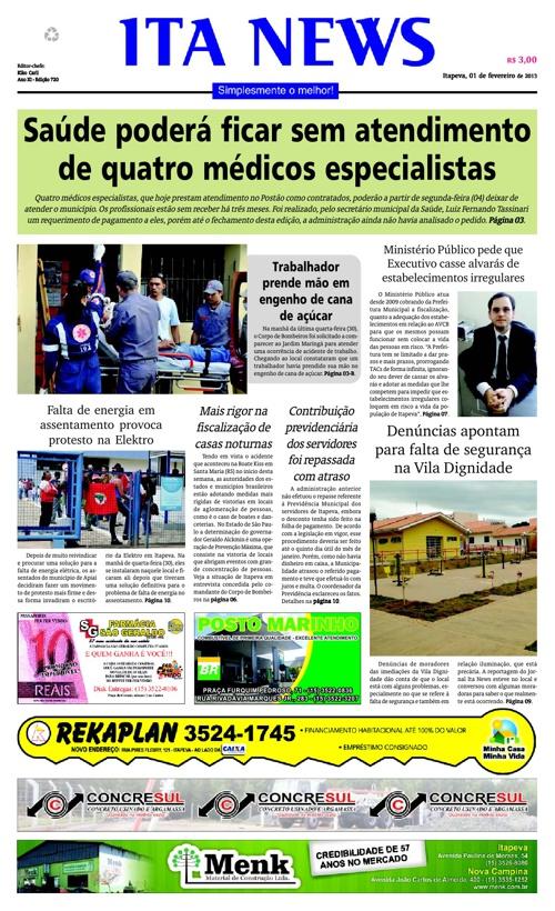Jornal Ita News - 01/02/2013