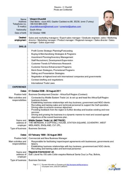 Resume - Europass