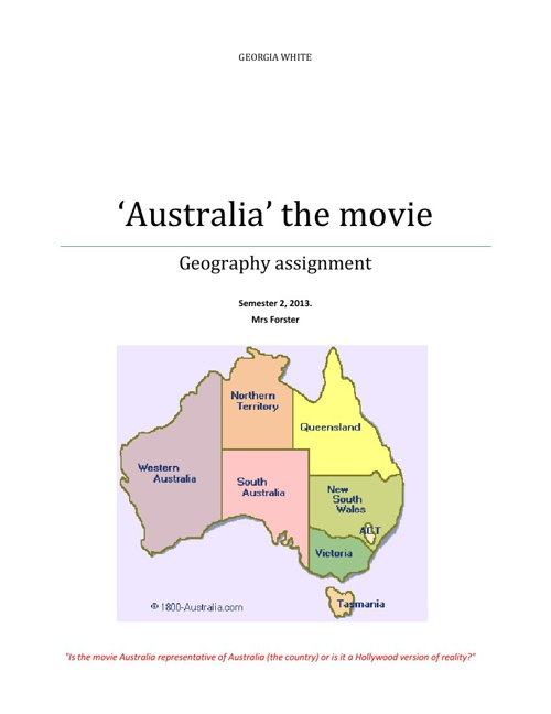 'Australia' the movie