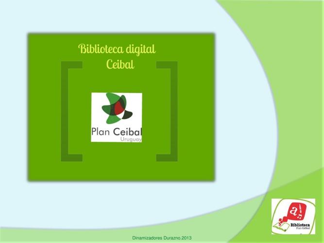 Presentación Biblioteca Ceibal