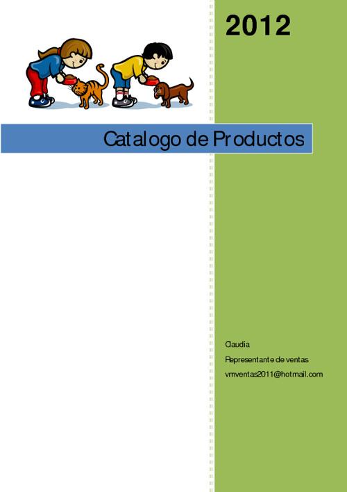 Villa de las Mascotas. Catalogo Digital de Productos