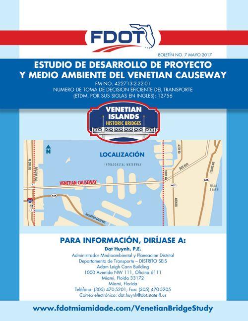 Venetian Causeway PD&E Study Newsletter No. 7 Spanish