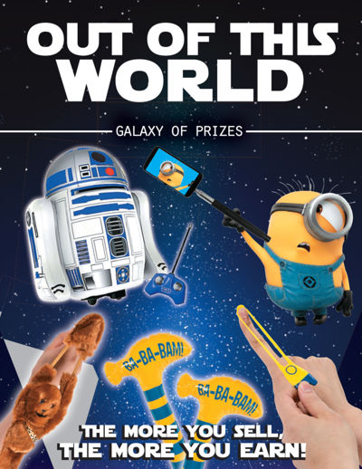 Out of this world Prizes
