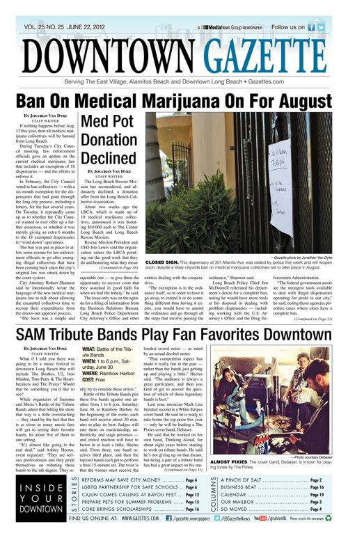 Downtown Gazette  |  June 22, 2012