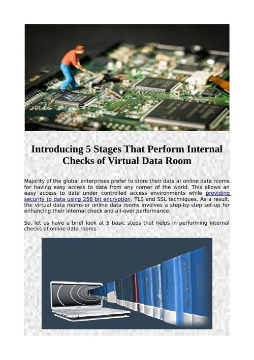 Introducing 5 Stages That Perform Internal Checks of Virtual Dat