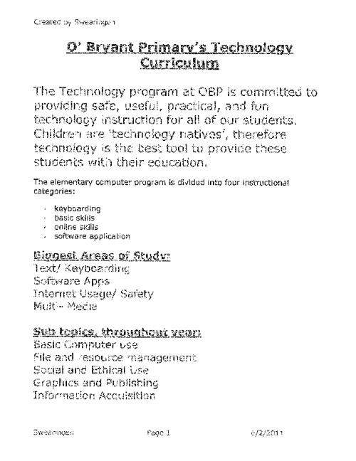 OBP Tech Curriculum