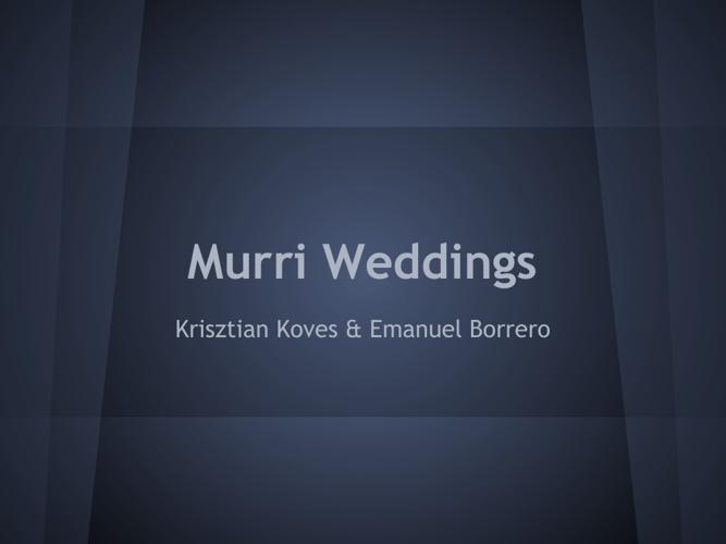 Murri Wedding
