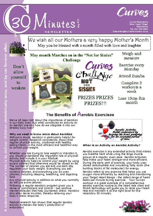 Curves May 2012 Newsletter