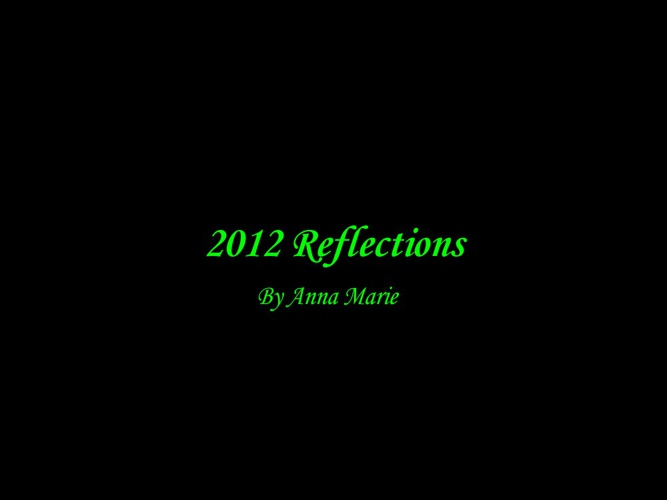 2012 Reflections By Anna Marie