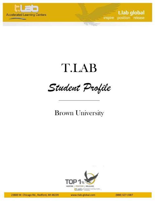 T.LAB Student Profile- UofM