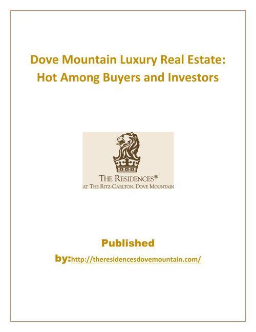 Dove mountain Luxury Real Estate
